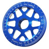 Polia-de-virabrequim-VW-AR-graduada-modelo-V2-147mm-em-aluminio---Azul