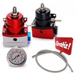 Dosador de Combustível 1:1 billet motores injetados com manômetro 160psi incorporado. Grátis mangueira revestida em inox.
