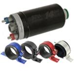 Bomba elétrica de combustível externa 14BAR PLUS + suporte (opções de cores). Por R$422,90!