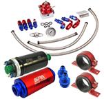 Bomba de Combustível 9BAR + Kit Dosador de Combustível 6AN + Filtro Combustível + Suporte (opções de cores)