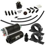 Bomba de Combustível 14BAR + Kit Dosador de Combustível 6AN + Filtro Combustível + Suportes (opções de cores)