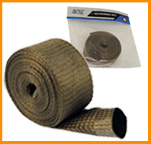 Protetor térmico de escapamento Titanium tipo luva/manga 60mm. Por R$ 89,90.