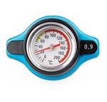 Tampa de radiador com termômetro de água - Modelo baixo. Opções: 0,9/1,1/1,3Bar (5X R$13,98)